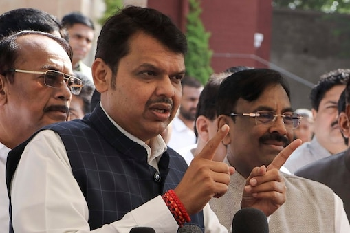 Nagpur: Former Maharashtra chief minister Devendra Fadnavis addresses a press conference during the fourth day of the winter session of Maharashtra State Assembly at Vidhan Bhawan, in Nagpur, Thursday, Dec. 19, 2019. (PTI Photo) (PTI12_19_2019_000157B)