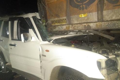 भरधाव वेगात स्कॉर्पिओ उभ्या असलेल्या ट्रक धडकली, देव दर्शनावरून येणाऱ्या 6 जणांचा जागीच मृत्यू