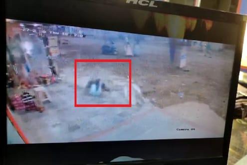 VIDEO : धक्कादायक! थुंकण्यासाठी उठलेल्या तरुणाच्या डोक्यात कोसळला स्लॅब