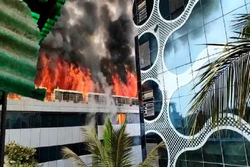 VIDEO मुंबईतल्या MIDCत लागलेली आग भडकली, सर्व इमारतीनेच घेतला पेट