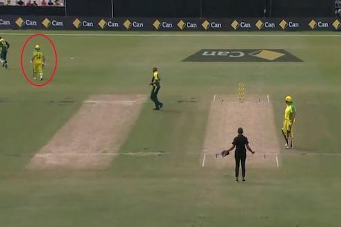 VIDEO : क्रिकेटच्या इतिहासात असं कधी घडलं नाही, दिग्गज फलंदाज खेळपट्टी सोडून चेंडूमागे धावू लागला