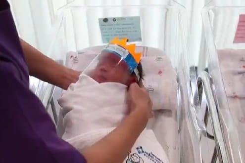 VIDEO : कोरोनापासून असा केला जातो नवजात बाळांचा बचाव, या देशाने तयार केलं स्पेशल किट
