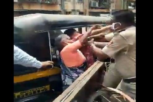 VIDEO : लॉकडाऊनमध्ये नवी मुंबईत भाजी विक्रेत्या महिला आणि पोलिसांमध्ये जुंपली