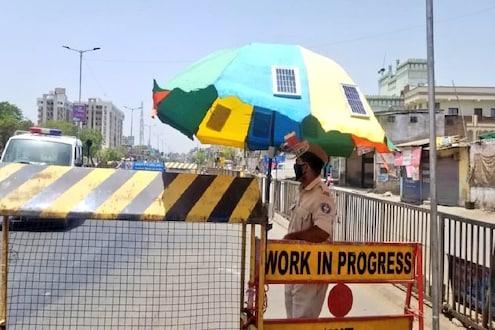 या छत्रीत दडलंय काय? ऊन-पावसासोबत आता पोलिसांचा मोबाईलही चार्ज होणार