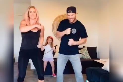 डेव्हिड वॉर्नरने बायको आणि मुलीबरोबर केला थेट प्रभुदेवाशी मुकाबला! पाहा VIDEO