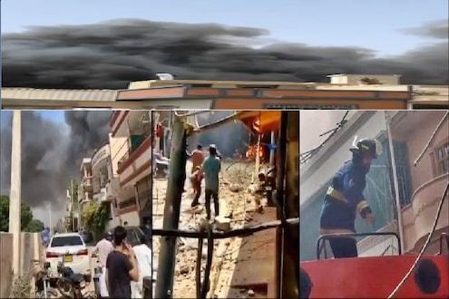 इंजिनमध्ये स्फोट झाला आणि विमान थेट इमारतींवर कोसळलं; पाकिस्तानच्या भीषण अपघाताचे 10 VIDEO आले समोर
