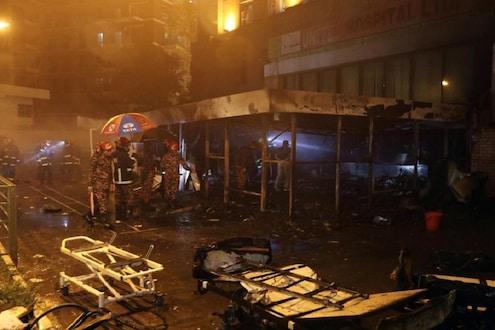 कोव्हिड-19 रुग्णालयालाच लागली भीषण आग, 5 कोरोना रुग्णांचा आगीत होरपळून मृत्यू