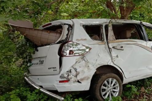 भीषण अपघातात इर्टिगा गाडीचा चेंदामेंदा, 3 जणांचा जागीच मृत्यू