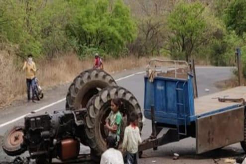भीषण अपघातात ट्रॅक्टरचा चक्काचूर; एकाच कुटुंबातील 4 जण ठार, 6 गंभीर