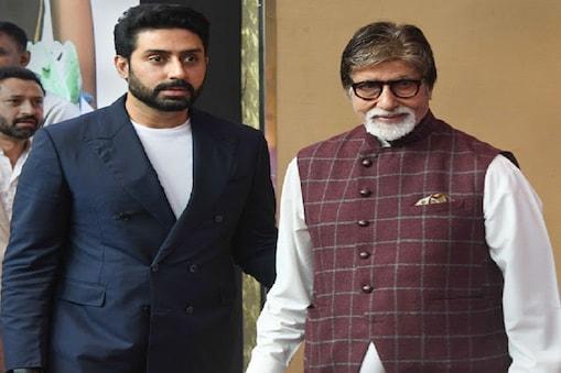 Mumbai: Bollywood actors Amitabh Bachchan and Abhishek Bachchan arrive to attend the felicitation ceremony of world badminton champion P V Sindhu by the Sahara Group, in Mumbai, Sunday, Sep 08, 2019. (PTI Photo/Shirish Shete)(PTI9_8_2019_000089B)