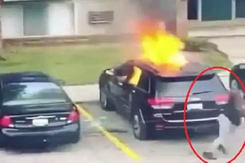 VIDEO : एक्स बॉयफ्रेंडचा बदला घेण्यासाठी तरुणीनं जाळली कार आणि...