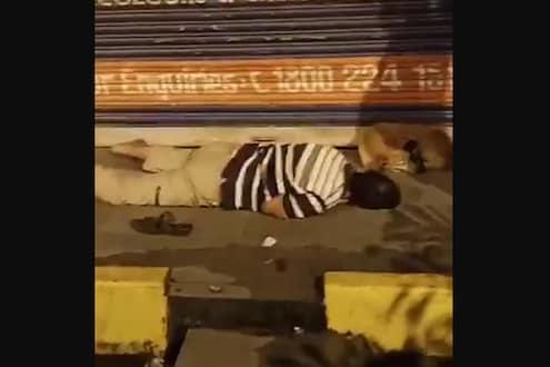 हॉस्पिटलमधून कोरोनाबाधित पळाला आणि फुटपाथवर झोपला, काही वेळाने झाला मृत्यू