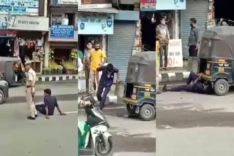 VIDEO : रिक्षा चालकाचा हायवोल्टेज ड्रामा, दारू पिऊन रस्त्यात आत्मदहनाचा प्रयत्न