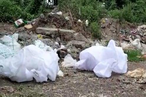 वापरलेले PPE कीट, Mask फेकले नदीपात्रात; संगमनेरमधील धक्कादायक प्रकार