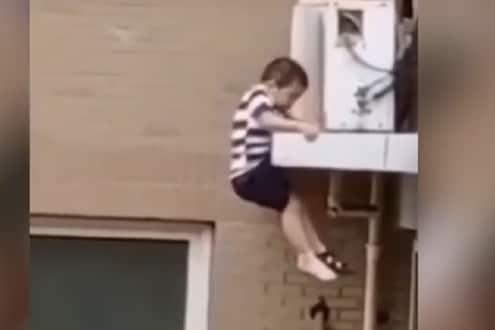 100 फुटांवरून खाली पडला 2 वर्षांचा चिमुकला, श्वास रोखून ठेवायला लावणारा VIDEO