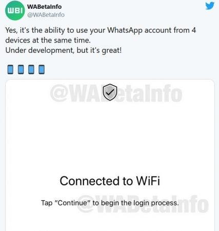 WABetaInfoने दिलेल्या माहितीनुसार व्हॉट्सअॅप एकाधिक डिव्हाइस वैशिष्ट्यांसाठी अँड्रॉइड अॅप आणि आयओएसवर नवीन इंटरफेस आणण्याचे काम करत आहे.