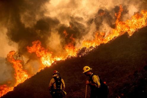निसर्गाचं रौद्ररुप! 72 तासांपासून जळतंय अख्खं शहर, पाहा कॅलिफोर्नियातील अग्नीतांडवाचे VIDEO