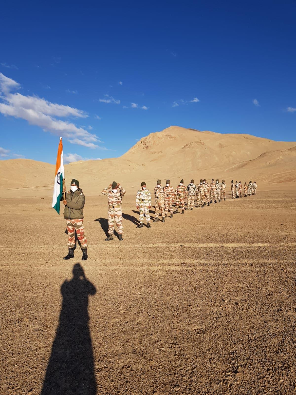 इंडो-तिबेट सीमा पोलीस (आयटीबीपी) जवानांनी स्वातंत्र्य दिन साजरा केला आहे.