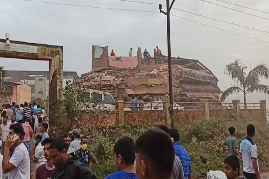 रायगड जिल्ह्यातील महाडमध्ये 5 मजली इमारती कोसळली असून अनेकजण ढिगाऱ्याखाली अडकले आहेत.