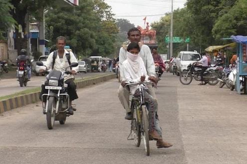 वर्ष वाया नको जायला! 85 किमी सायकल चालवत परीक्षेला पोहोचला बाप अन् मुलगा