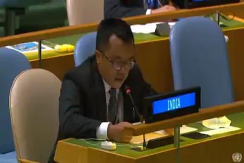 पाकचे पंतप्रधान इम्रान खान बरळले, UNच्या महासभेत भारतानं दिलं चोख प्रत्युत्तर