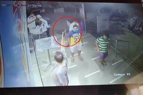 नवी मुंबईत हॉटेलमध्ये तोतया पत्रकाराचा गोळीबार, थरार CCTVमध्ये कैद