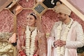 'सिंघम'ची हिरोईन अडकली लग्नाच्या बेडीत; खऱ्या 'साथिया'सोबतचे WEDDING PHOTO VIRAL