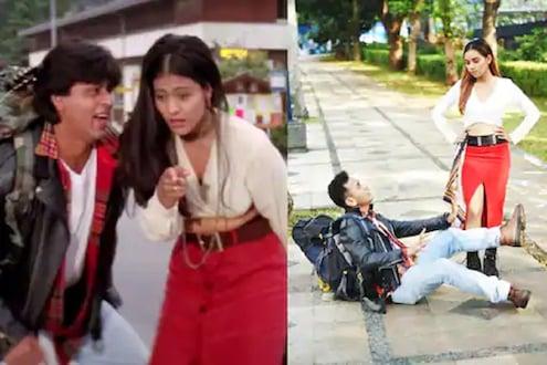 DDLJच्या 'या' गाण्याचं अफलातून रिक्रिएशन; शाहरुख खानने शेअर केलेला VIDEO एकदा पाहाच