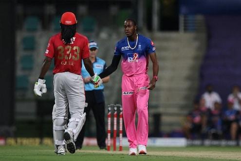 IPL2020: 99वर बोल्ड झाल्याने संतापून गेलने फेकली बॅट, पण जोफ्राबरोबर असं वागला की जिंकलं सर्वांचं मन