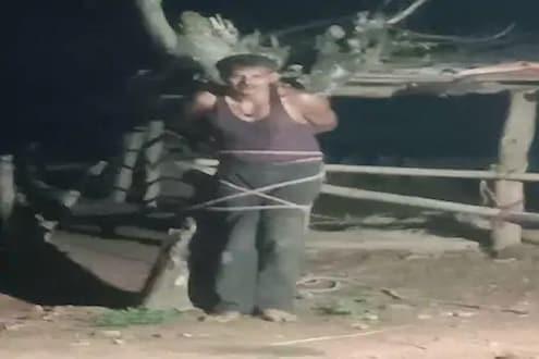 छेड काढणाऱ्याला महिलेनं शिकवली चांगलीच अद्दल; आधी झाडाला बांधलं आणि मग... VIDEO VIRAL