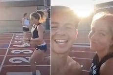 OMG! 9 महिन्यांची गर्भवती 5 मिनिटांत धावली 1.6 किमी; पाहा VIDEO