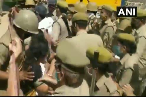 'आमचे ब्लाउज ओढले, खासदारांना खाली पाडले', उत्तर प्रदेश पोलिसांचा आणखी एक प्रताप समोर, VIDEO