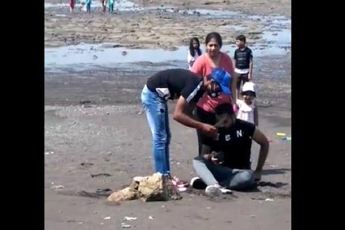 शेकडो लोकांसमोर कुटुंबाला लुटलं! चोरट्यांनी चाकूचा धाक दाखवला तेव्हा गर्दीतील लोकांनी VIDEO काढला पण...