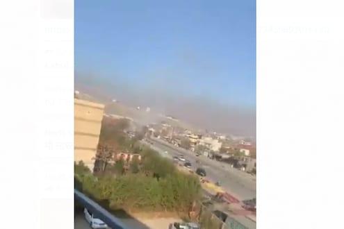 काबुल हादरलं; दाट लोकवस्तीत 10 रॉकेट उडवत स्फोट, थरारक VIDEO आला समोर