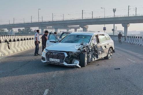 Audi Q7 कारची तरुणाला भीषण धडक, 30 फूट दूर छतावर कोसळला तरुण