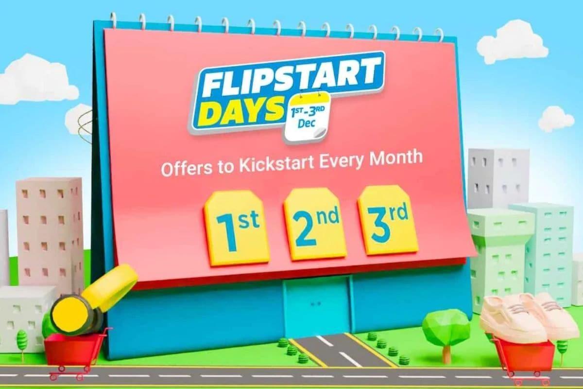 ऑक्टोबरमध्ये झालेल्या बिग बिलियन डेज सेलनंतर (Big Billion Days sale) फ्लिपकार्टने आता फ्लिपस्टार्ट ( Flipkart Flipstart Days sale) डेज हा सेल सुरू केला आहे. 1 डिसेंबरपासून ते 3 डिसेंबरपर्यंत हा सेल सुरू राहील. या सेलमध्ये इलेक्ट्रॉनिक उपकरणांवर तसंच कपडे, खेळांची उपकरणं आणि अन्य सामानावर भरपूर सूट देण्यात आली आहे. फ्लिपस्टार्ट डेज सेलसाठीच्या लँडिंग पेजवर हा सेल लाइव्ह करण्यात आला आहे. यामध्ये इलेक्ट्रॉनिक उपकरणांवर 80 टक्के सवलतीच्या ऑफरची जाहिरात आहे. तसेच इतर वस्तुंच्या डील्सबरोबरच फ्लिपकार्टने फ्लिपस्टार्ट डेजच्या सेलदरम्यान लॅपटॉपवर 30 टक्क्यांपर्यंत सूट दिली आहे.