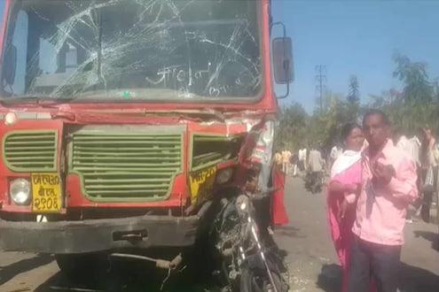 भरधाव बसनं सिग्नलवर उभ्या असलेल्या दुचाकीस्वाराला चिरडलं, तरुण जागेवरच ठार