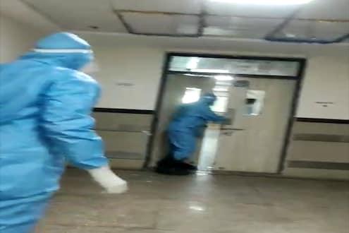 'मला घरी जाऊ द्या', कोरोनाबाधित रुग्णाचा रुग्णालयात तुफान राडा, LIVE VIDEO