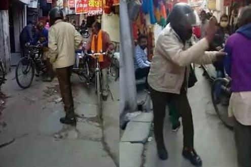 पोलीस कर्मचाऱ्याचा दारू पिऊन धिंगाणा, नशेमध्येच काढली महिलेची छेड, Video Viral