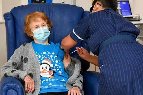 90 वर्षांच्या आजींनी घेतली जगातील पहिली कोरोना लस; वाढदिवसाआधीच मिळालं मोठं गिफ्ट
