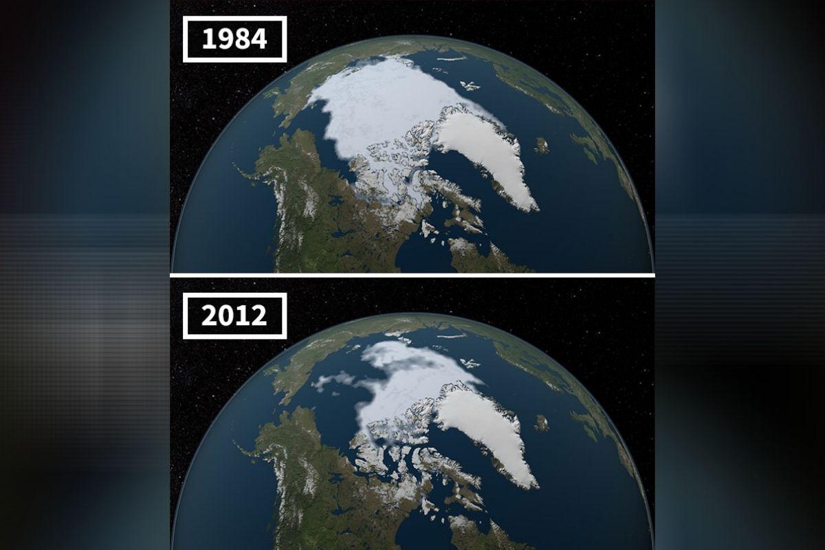 आर्कटिक महासागर- आर्क्टिक महासागरात थंडीच्या दिवसात मोठ्या प्रमाणात बर्फ जमा होतो. उन्हाळ्याच्या दिवसात याठिकाणी असणारा बर्फ वितळतो. 1979 पासून याठिकाणी असणाऱ्या बर्फाची पातळी नोंदवण्यास सुरुवात झाली. त्यानंतर 1984 मध्ये या ठिकाणी उन्हाळ्यात सर्वात कमी बर्फाची नोंद झाली. यानंतर 2012 मध्ये 1984 पेक्षाही कमी पातळीची नोंद झाली. त्यानंतर या ठिकाणी असणाऱ्या बर्फाची पातळी दिवसेंदिवस कमी होत आहे. 2007 नंतर उन्हाळ्याच्या दिवसात बर्फाचा स्तर कमी होतो आहे. 2016 मध्ये हा स्तर सर्वात कमी होता. (फोटो: boredpanda.com)