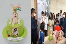IND vs AUS : इतिहास घडवून आलेल्या अजिंक्यचं जंगी स्वागत, या बेकरीतून आला खास केक
