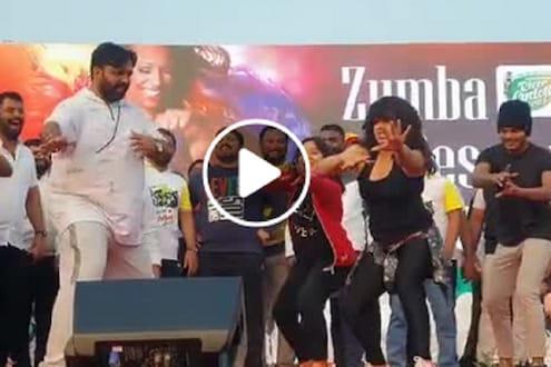 भोसरीचे आमदार महेश लांडगे स्टेजवर थिरकले, झुंबा डान्सचा VIDEO VIRAL