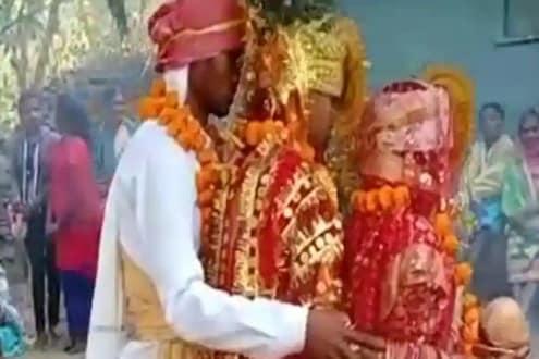एकाच मंडपात त्यानं केलं चक्क दोन जणींशी लग्न, म्हणाला कुणालाच धोका नाही देणार