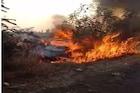 ऑटोला धडक दिल्यानंतर कारला लागली भीषण आग, अपघातात 1 गंभीर जखमी