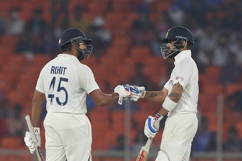 IND vs ENG : अक्षरच्या धमाक्यानंतर रोहितचं अर्धशतक, दिवसाअखेर भारताने गमावल्या 3 विकेट