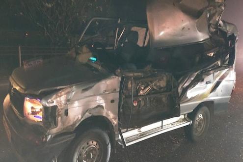 मुंबई-पुणे एक्स्प्रेस वेवर टोयाटो क्वालिसला अज्ञात वाहनाची जोरात धडक, एकाचा मृत्यू