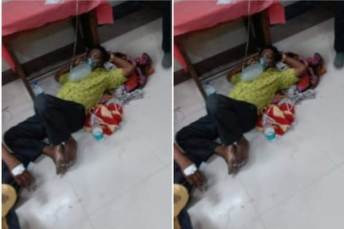 औरंगाबादमध्ये कोरोना रुग्णांची हेळसांड; बेड मिळत नसल्याने जमिनीवर घ्यावे लागताहेत उपचार