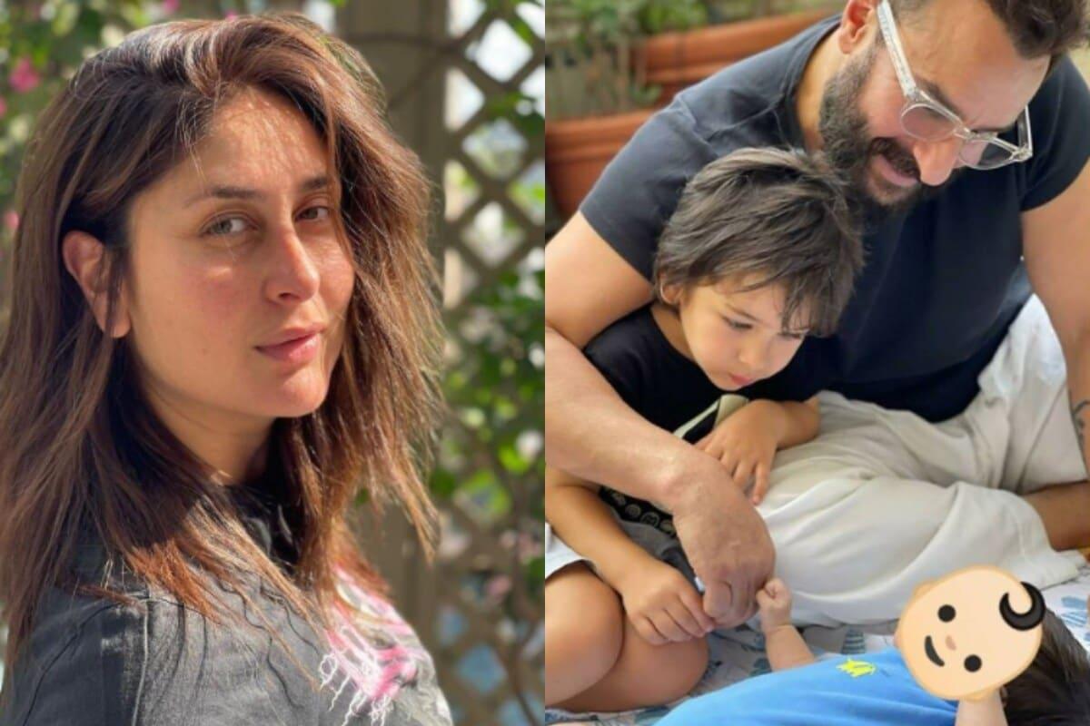 करीना कपूर खान - अभिनेत्री करीना कपूर नुकतीच दुसऱ्यांदा आई झाली आहे. त्यामुळे लॉकडाऊनमध्ये ती कुटुंबासोबत वेळ घालवताना दिसत आहे. नुकताच तिने मुलांसोबत सैफचा एक फोटो पोस्ट केला होता. ज्यात तिने आपल्या बाळाचा चेहरा मात्र दाखवला नाही.