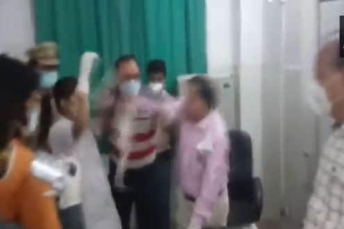 औकात विचारत नर्सनं डॉक्टरांच्या कानशिलात लगावली; रुग्णालयातील हाणामारीचा VIDEO व्हायरल